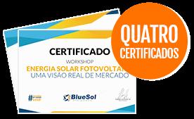 quatro certificados workshop solar blue sol