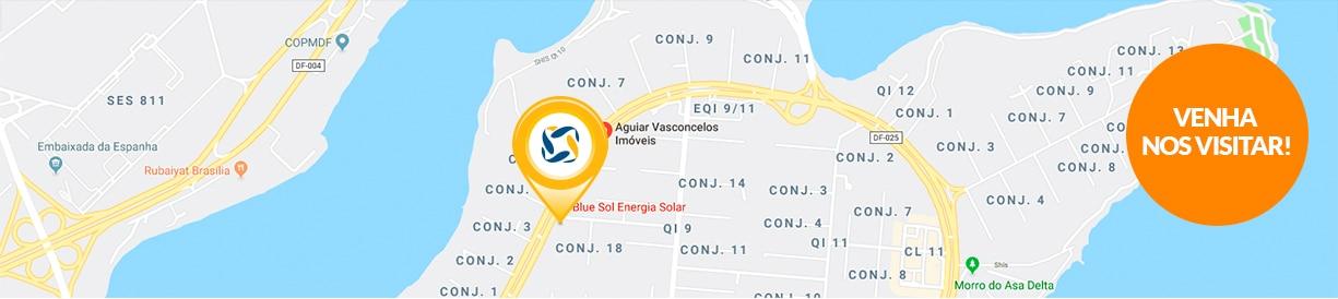 Franquia energia solar Brasília mapa - Blue Sol Energia Solar