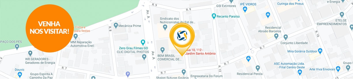 Franquia energia solar Goiânia mapa - Blue Sol Energia Solar