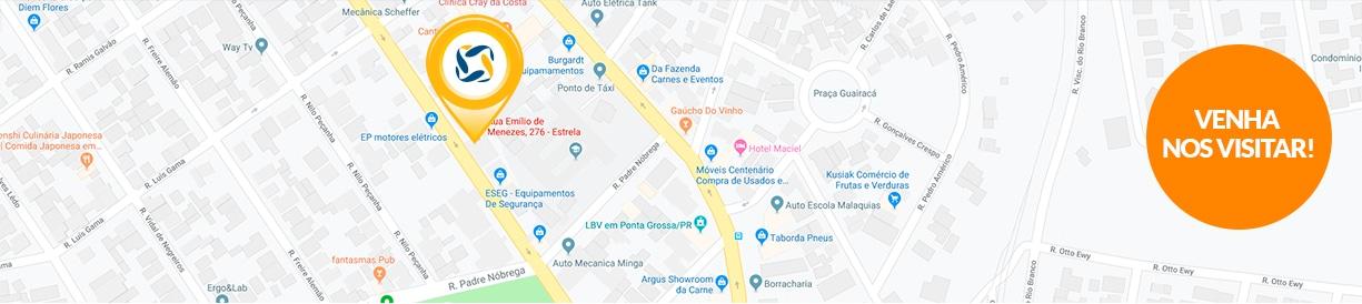 Franquia energia solar Ponta Grossa mapa - Blue Sol Energia Solar