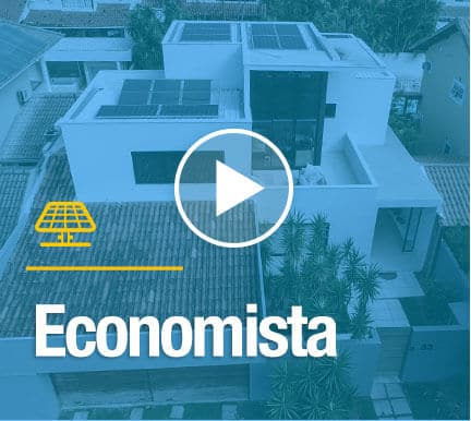economista com sistema solar blue sol