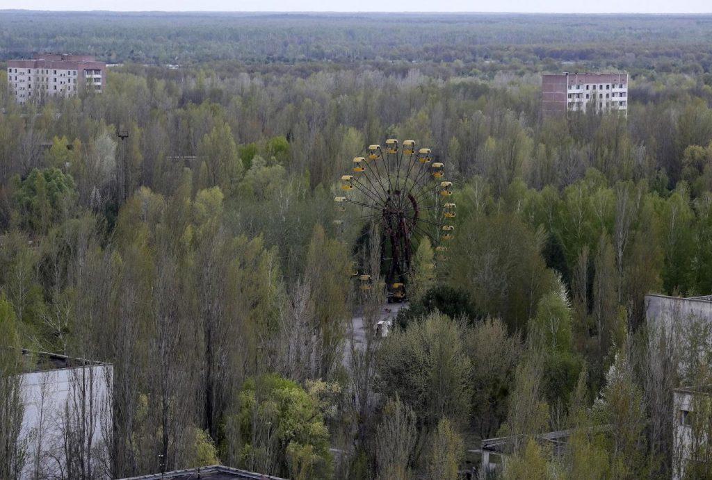 A cidade abandonada de Pripyat, perto do local da usina nuclear de Chernobyl na Ucrânia. Reuters